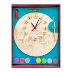 Часы с циферблатом под роспись Совы с красками