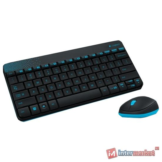 Клавиатура и мышь Logitech Wireless Combo MK240 Black USB