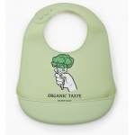 Нагрудник Happy Baby Soft Silicone Bib Green
