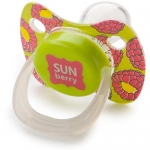 Соска Happy Baby Baby Pacifier 12-24 мес симметричной формы c колпачком Lime
